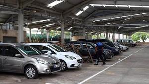 Belediye dolu tehlikesine karşı kapalı pazarları otoparka çevirdi