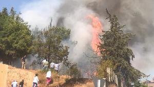 Hastane bahçesinde yangın paniği