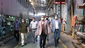 KAYSOdan fabrikalara maske ve sosyal mesafe denetimi