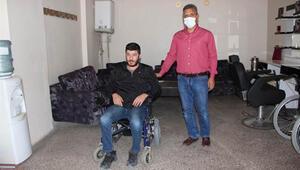 Barış, 7 ay sonra akülü sandalyeye kavuştu