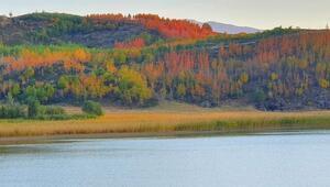 Nemrut Krater Gölünde sonbahar güzelliği