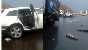 Kuzey Marmara Otoyolunda korkunç kaza...