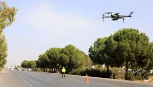 Ehliyetine el konulan sürücü kırmızı ışıkta geçince drona yakalandı