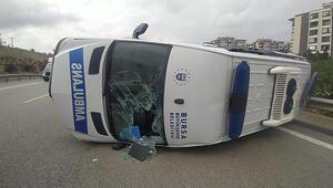 Bursada sis faciası...Ambulans takla attı: 5 yaralı