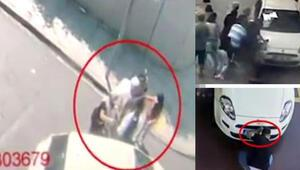 Üzerine araç sürdükleri vatandaşları soyan yankesiciler kamerada