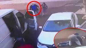 Kartalda televizyon hırsızlarına yaşlı adamın müdahalesi kamerada