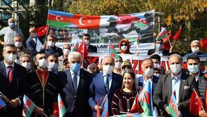 Başkentte Azerbaycana destek mitingi düzenlendi