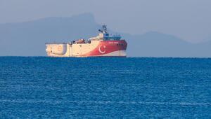 Yeni NAVTEXin ardından Oruç Reis gemisi limandan ayrıldı
