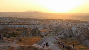 Kapadokya'da muhteşem gün batımı