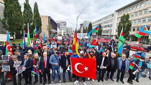 Nürnberg'de Azerbaycan'a destek mitingi