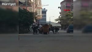 Antalyada 4 kadın, aralarına aldıkları bir kadını tekme tokat dövdü