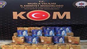 Muğla'da sahte içki ve kaçak ürünler ele geçirildi