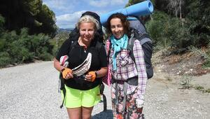 Ukraynalı Olga ve Marina, 5inci kez Likya Yolunda yürümeye geldi