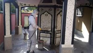 Kırıkkalede camiler dezenfekte ediliyor