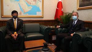 Milli Savunma Bakanı Akar, Japonyanın Ankara Büyükelçisi Akio ile görüştü