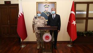 Milli Savunma Bakanı Akar, Katar Genelkurmay Başkanı el-Ganimi kabul etti