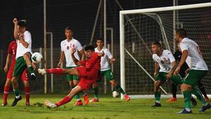 19 Yaş Altı Milli Futbol Takımı, hazırlık maçında Bulgaristana 2-1 yenildi