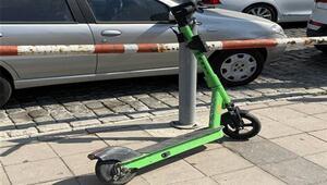'Martı' scooter kullanıcıları kendi hijyen önlemlerini alıyor
