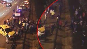 Son dakika haberler... Taksiciler arasında TEM otoyolunda meydan kavgası