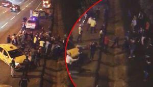 Son dakika haber Taksiciler arasında meydan kavgası kamerada