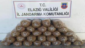 Elazığ'da 150 kilogram kaçak tütün ele geçirildi