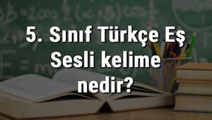 5. Sınıf Türkçe Eş Sesli kelime nedir Eş Sesli kelimeler konu anlatımı