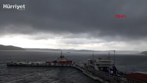 Çanakkalede sağanak; boğaz transit gemi geçişlerine kapatıldı