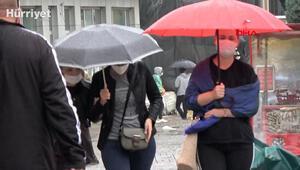 Son dakika Edirnede beklenen yağış başladı