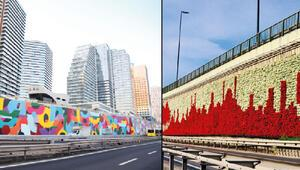 İstanbul'da renkli tartışma: Dikey bahçe mi, konuşan duvar mı