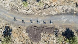 Lav yolu salgın sürecinde bisiklet ve doğa tutkunları için izole rota oldu
