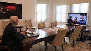 Sosyal medyadan tablet istedi ilk canlı bağlantıyı Başkanla yaptı