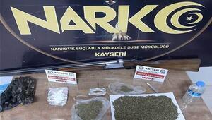 Kayseri'de uyuşturucu satıcılarına operasyon: 3 gözaltı
