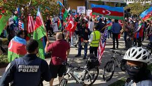 Beyaz Saray önünde Azerbaycana destek mitingi