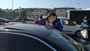 Toplum Destekli Polisler denetimde çocuklara trafik güvenliğini anlattı