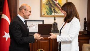 Yunanistan İzmir Başkonsolosu Papouliadan Soyere veda ziyareti