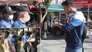 Antalya'da maske takmayan gençten garip savunma
