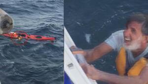 Marmarada korku dolu anlar Böyle yardım bekliyordu, İDOnun kaptanı farketti