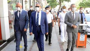 Mersin protokolü, sosyal mesafe ve maske denetimi yaptı