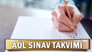 Açık öğretim lise sınavı ne zaman İşte AÖL 1. dönem sınav takvimi