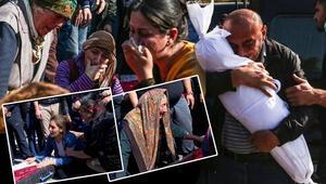 Ermenistanın Gencede füze ile öldürdüğü siviller son yolculuğuna uğurlandı