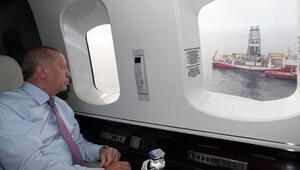 Cumhurbaşkanı Erdoğan, Fatih sondaj gemisinde incelemelerde bulundu