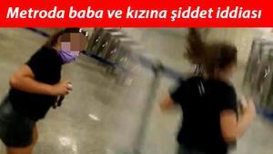 Metroda baba ve kızına şiddetiddiası Bizi orada kilitlediler...