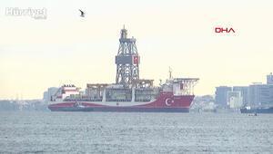 Kanuni sondaj gemisi İstanbulda