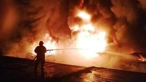Sakaryada, kauçuk imalathanesinde yangın