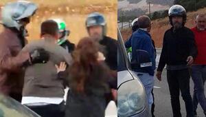 Son dakika... Motosikletli grup dehşet saçtı Çocuklarının gözü önünde dövdüler...