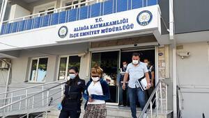 İzmirde inşaat malzemesi çalan hırsızlar yakalandı