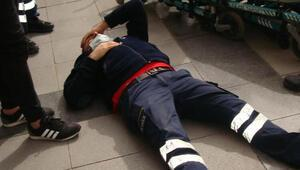 Aksarayda maske denetiminde sağlık görevlisine saldırı