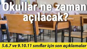 5.6.7 ve 9.10.11 sınıflar için okullar ne zaman açılacak İşte son açıklamalar