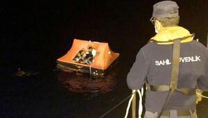 Muğlada Türk kara sularına itilen 13 sığınmacı kurtarıldı