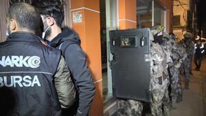Bursada uyuşturucu satıcılarına yönelik 600 polisle şafak operasyonu